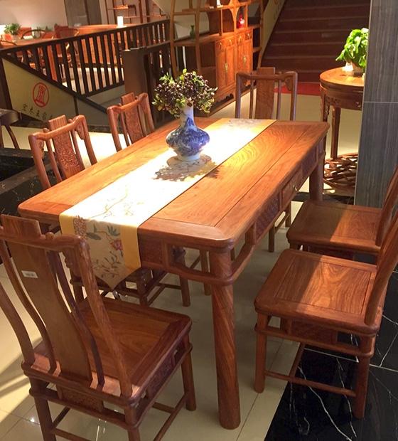 紅木新中式餐臺