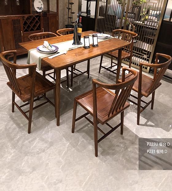 紅木餐桌餐椅