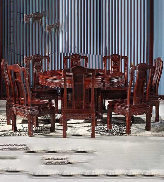 高檔紅木餐桌